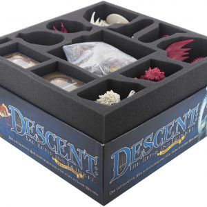 57714 Foam Tray Set For Descent: Journeys In The Dark 2nd Edition Board Game Box