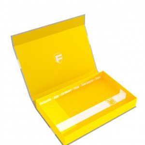 57417 Feldherr Magnetic Box Yellow Half-Size 40 Mm Empty