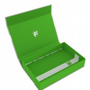 57418 Feldherr Magnetic Box Green Half-Size 55 Mm Empty
