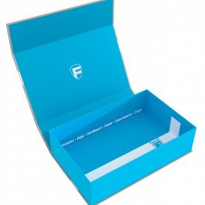 57419 Feldherr Magnetic Box Blue Half-Size 75 Mm Empty