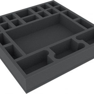 AGDU050BO 295 Mm X 295 Mm X 50 Mm Foam Tray For Board Game Boxes With 22 Compartments