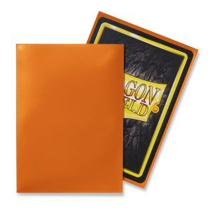 Dragon Shield: Standard Sleeves – Classic Orange (100 Sleeves)