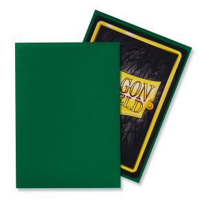 Dragon Shield: Standard Sleeves – Matte Green (100 Sleeves)