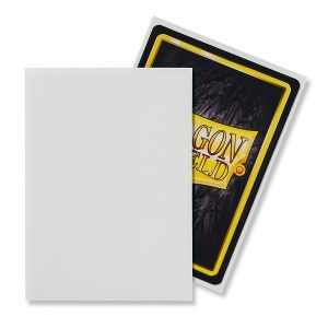 Dragon Shield: Standard Sleeves – Matte White (100 Sleeves)