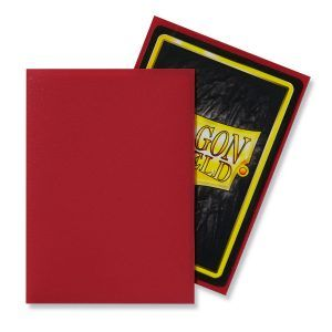 Dragon Shield: Standard Sleeves – Matte Red (100 Sleeves)