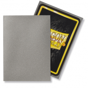 Dragon Shield: Standard Sleeves – Matte Silver (100 Sleeves)