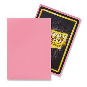 Dragon Shield: Standard Sleeves – Matte Pink (100 Sleeves)