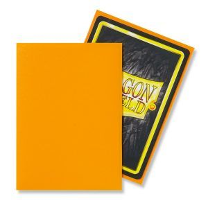 Dragon Shield: Standard Sleeves – Matte Orange (100 Sleeves)