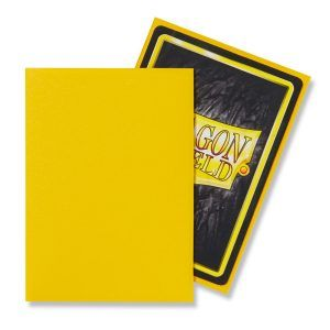 Dragon Shield: Standard Sleeves – Matte Yellow (100 Sleeves)