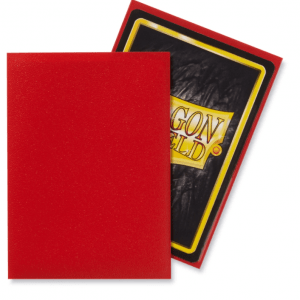 Dragon Shield: Standard Sleeves – Matte Crimson (100 Sleeves)
