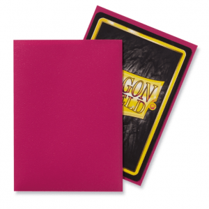 Dragon Shield: Standard Sleeves – Matte Magenta (100 Sleeves)