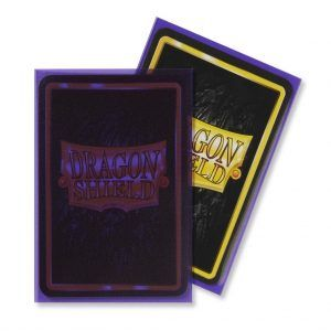 Dragon Shield: Standard Sleeves – Matte Clear Purple (100 Sleeves)