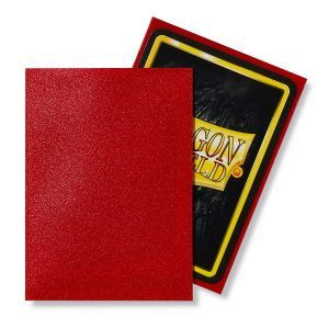 Dragon Shield: Standard Sleeves – Matte Ruby (100 Sleeves)