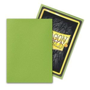 Dragon Shield: Standard Sleeves – Matte Lime (100 Sleeves)