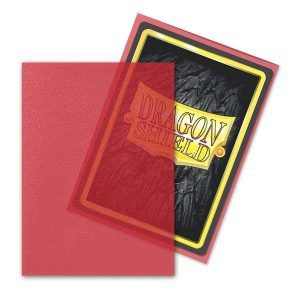 Dragon Shield: Matte Art Sleeves – Clear Red (100 Sleeves)