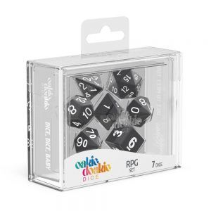 Oakie Doakie Dice Dados RPG-Set Solid – Negro (7)