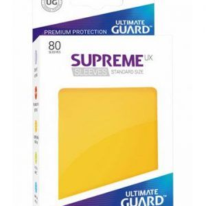 Ultimate Guard: Fundas Supreme UX Color Amarillo (80 Unidades)