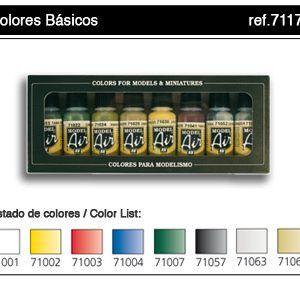 Vallejo: Set Model Air – Colores Basicos (8) (71174)