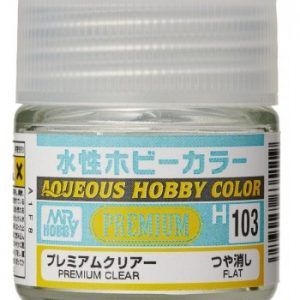 H-103 Premium Clear Flat Pintura Acrílica Gunze – Hobby Color