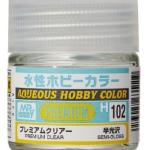 H-102 Premium Clear Semi-Gloss Pintura Acrílica Gunze – Hobby Color