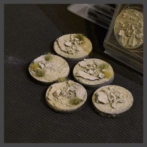 Gamer's Grass: Arid Steppe Bases Round 40mm (5) GGB-ASR40