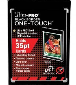 Ultra Pro: 35PT Black Border UV One-Touch Soporte Magnetico