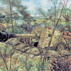 1:72 Italeri: WWII-GERMAN PAK40 AT GUN & CREW (ITA6096)