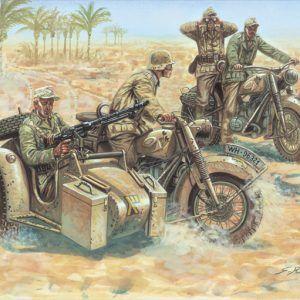 1:72 Italeri: WWII- GERMAN MOTORCYCLES (ITA6121)