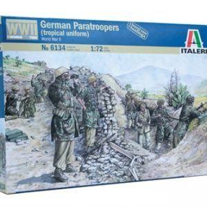 1:72 Italeri: WWII-GERMAN PARATROOPERS (TROPICAL UNIFORM) (ITA6134)