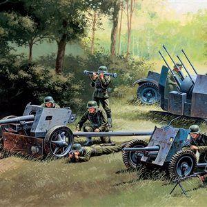1:72 Italeri: GERMAN GUNS SET: PAK35-PAK40-FLAK38 (ITA7026)