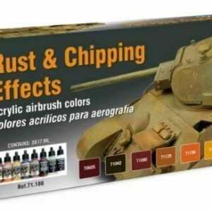 Vallejo Model Air: Rust And Chipping Effects (8 Colour Paint Set) 71186