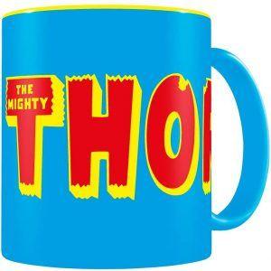 Taza:  Logo Thor Taza Azul-Amarilla (33cl)