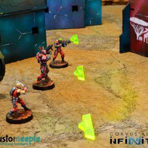 Infinity: Marcador De Zona De Despliege Infinity (9 Units)