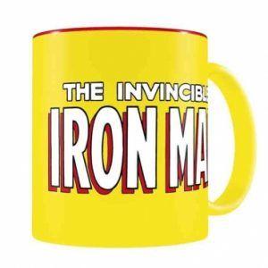 Taza: Logo Iron Man Taza Amarilla-Roja (33cl)