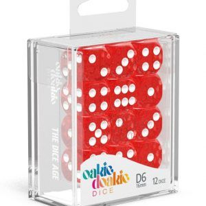 Oakie Doakie Dice Dados D6 16 Mm Speckled – Rojo (12)